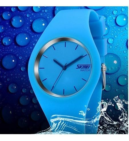 Relógio Skimei Silicone Geléia Unisex A Prova Dagua
