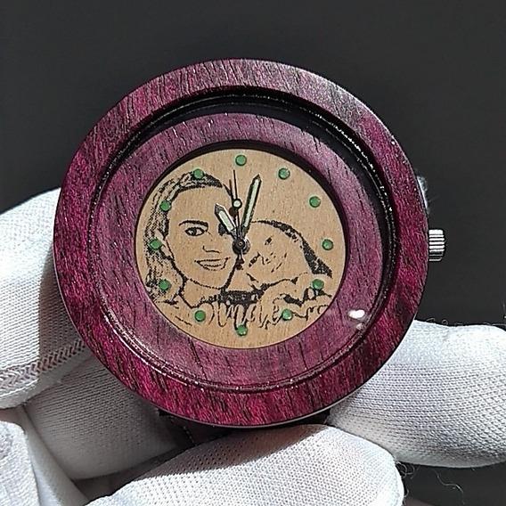 Relógio De Pulso De Madeira Customizado Com Sua Foto