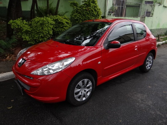 Peugeot 207 Xr 1.4 Vermelho 02 Portas Completo Flex 2012