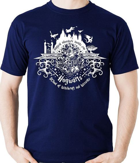 Camiseta Harry Potter Magia Hogwarts Camisa Blusa