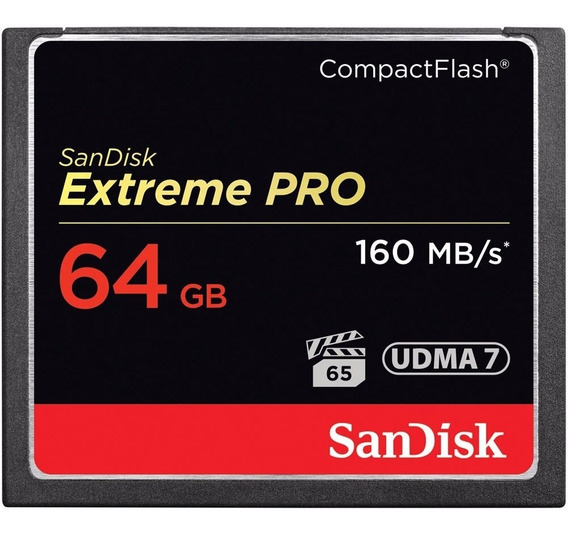 Memória Sandisk Extreme Pro Cf Compact Flash 64gb Lacrado