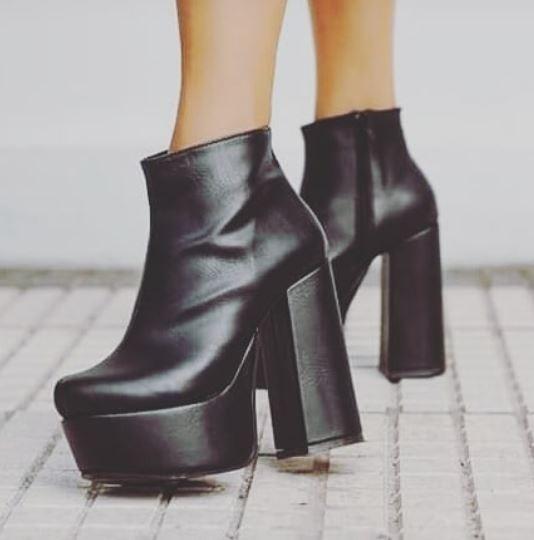 Zapatos Botas Botineta Plataforma Liviana