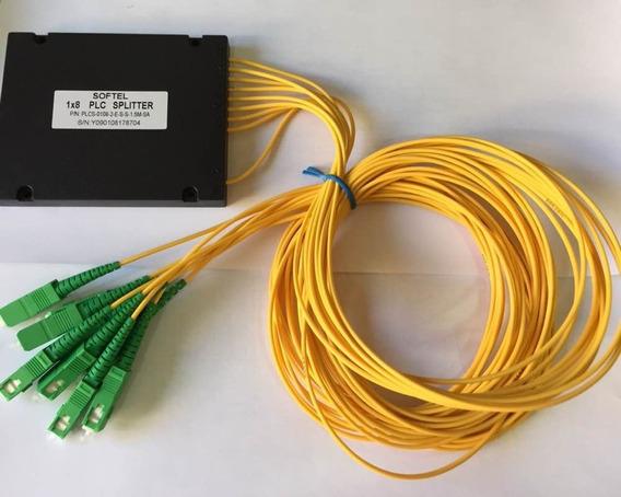 Kit 2x F. Splitter 1x8 2mm 1.5m Sc-apc Plc