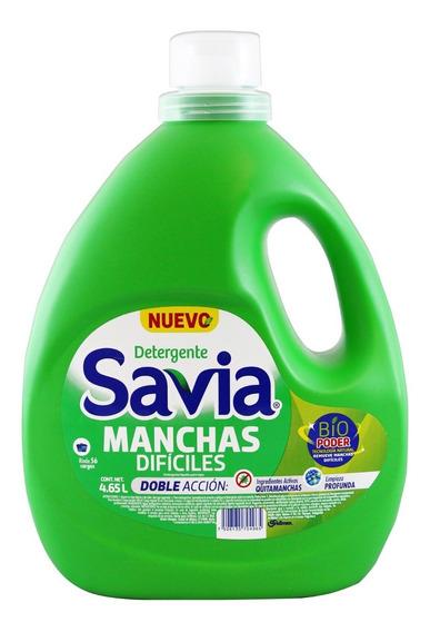Detergente Líquido Savia Manchas Difíciles De 4.65 L