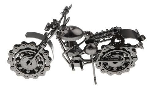Motocicleta Modelo Retro Escultura Moto Para Mesa Hogar