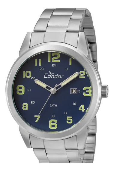 Relógio Condor Masculino Co2115ultdy/a Fundo Azul