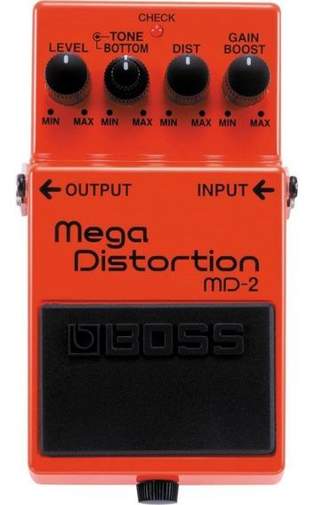 Pedal De Efeito Para Guitarra Mega Distortion Md-2 Boss
