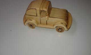 Carrinho Artesanal Fusca Brinquedo De Madeira Lindo Presente