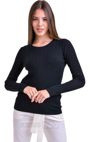 Sweater Liviano Suave Saco Mujer Cuello Redondo Kierouno