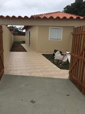 Linda Casa Na Praia De Itanhaém 01 Dormitório.