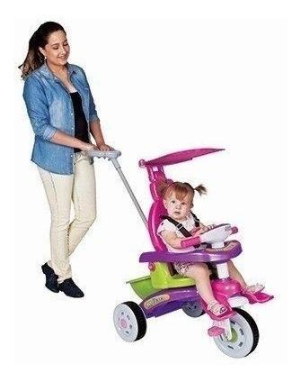 Triciclo Passeio Bebê Fit Trike Rosa 3339 Magic Toys