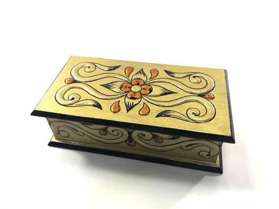 Caixa Porta Jóias Arabesco. Ref.553