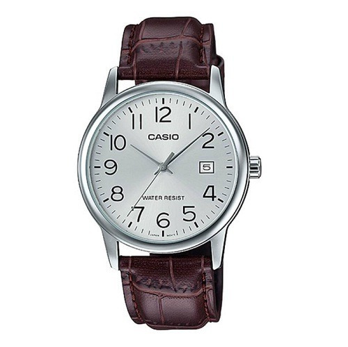 Relógio Casio Masculino Analógico Couro Marrom Mtp-v002l-7b2udf