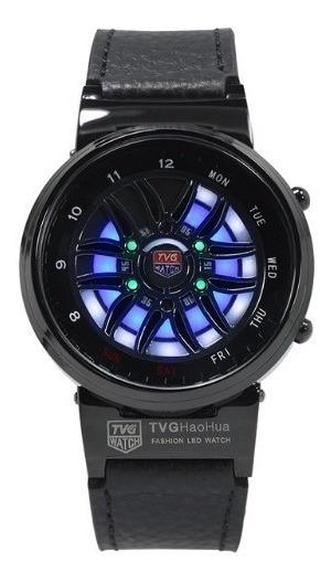 Relógio Preto Pulso Masculino Tvg X6 Luxuoso Barato Promoção