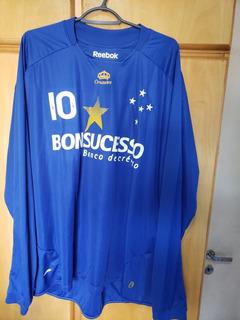 Camisa Cruzeiro Manga Longa - Reebok - 2009 - Libertadores