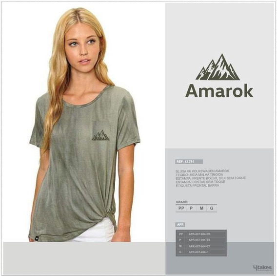 Blusa Amarok V6 Feminino Tam. G Apr057004f