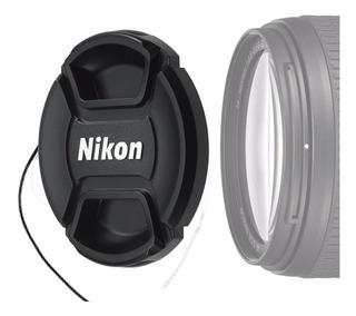 Tapa Lente Ø 52mm C/soga P/ Nikon Af-s 18-55mm 55-200mm