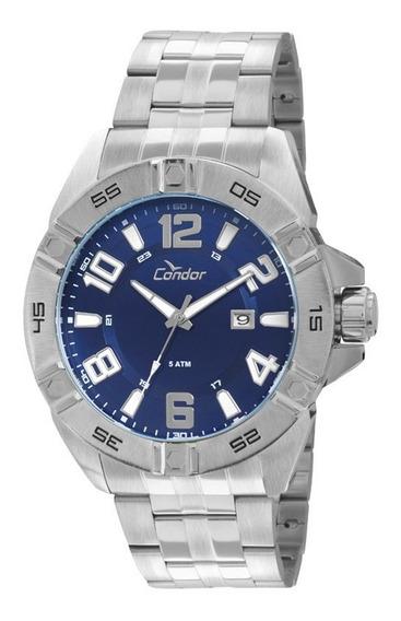 Relógio Condor Masculino Analógico Azul/prata Co2315ab/3a