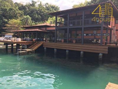 Angra Dos Reis - Casa Linda E Luxuosa Na Beira Da Praia 06 Suítes Pier Heliponto Elevador Para Venda. - Ca0323