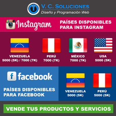 Cuentas Facebook, Instagram, Gestión Red Social, Seguidores