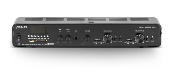 Amplificador Frahm Receiver Som Ambiente Slim 2500 App G2 Bivolt