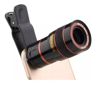 Lente Universal Zoom Óptico De 8x Celular Telescópio Zoom 8x