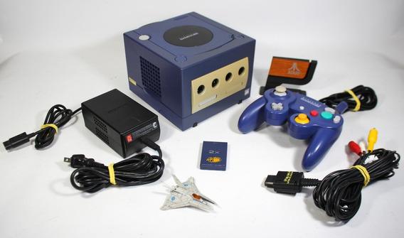 Game Cube Japonês Original [ Dol-001 Azul ] Controle Fonte Cabos - Testado [iplay]
