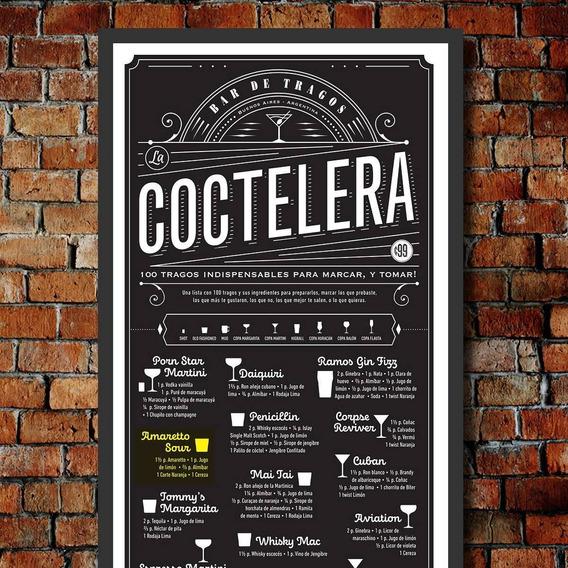 Poster Coctelera, 100 Tragos Para Armar Y Marcar Regalo