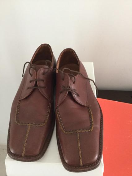 Zapatos De Hombre Cuero Marrón Marca