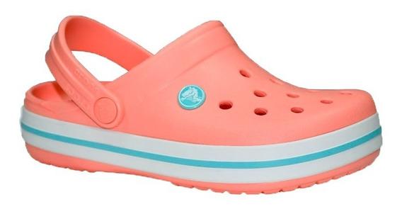 Crocs Crocband Mujer Melon/ice Originales Rc Deportes