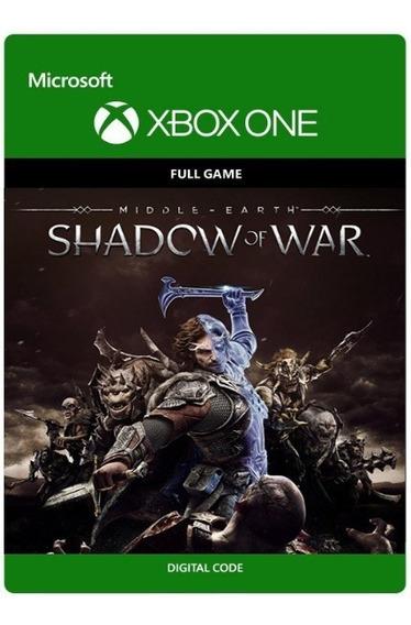 Terra Media Shadow Of War - Xbox One Código 25 Digitos