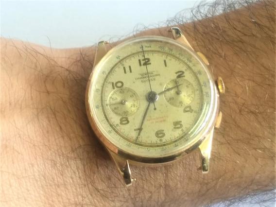 Relógio Ouro 18 K 750 Cronógrafo Antigo Wema Chronographe