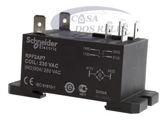 5 Reles Schneider Rpf2ap7 P/ Ar Condicionado 30a 230vac 2na