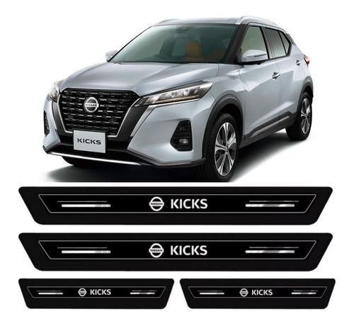 Imagem 1 de 7 de Soleira Larga Protetora Novo Nissan Kicks Active 2021 2022
