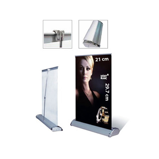 Banner O Display Publicitario Mini Roll Up A4