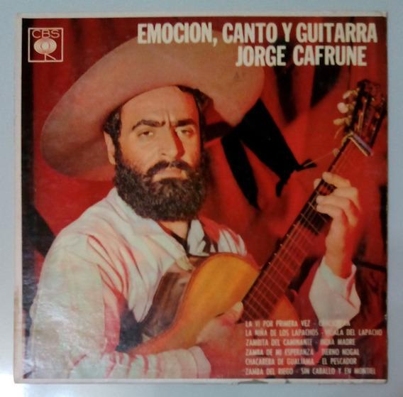 Jorge Cafrune - Emoción, Canto Y Guitarra / Disco De Vinilo