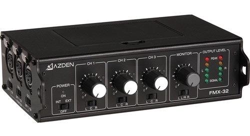 Azden Fmx-32 3-channel Microphone Field Mixer