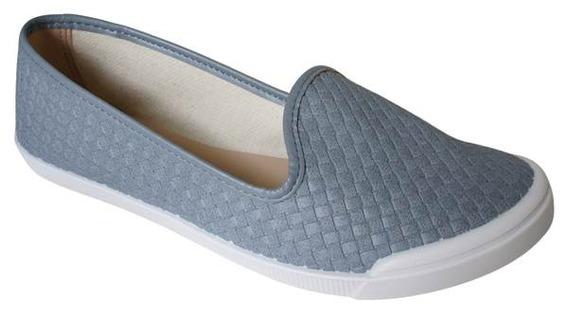 Sapatilha Moleca Slip Biqueira Branco- 5109412 Azul Bebe