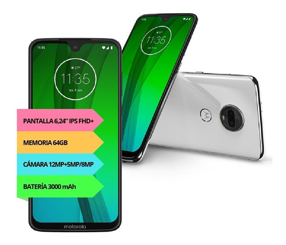 Celular Motorola Moto G7 Xt-1962 64gb 4gb 2019 Garantía 12c