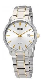 Reloj Seiko Sur197 P1 Classic Cuarzo Silver Metal Wr100