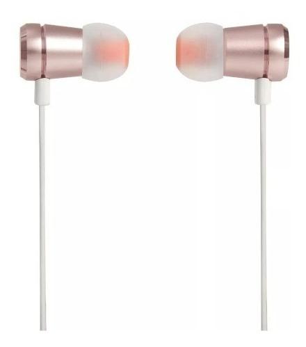 Fone De Ouvido Intra-auriculares Jbl T290 C/ Microfone Rosa