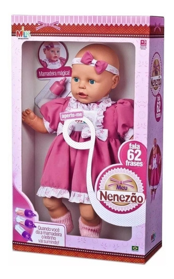 Boneca Bebe Fala Frases Meu Nenezão Milk - Ver Vídeo
