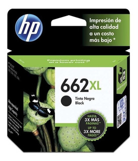 Cartucho Hp 662xl Negro Original Hp 2515 3515 2545 3545 4645