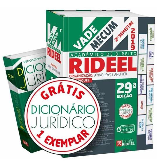 Vade Mecum Academico De Direito Rideel 29ª Edição (2019)