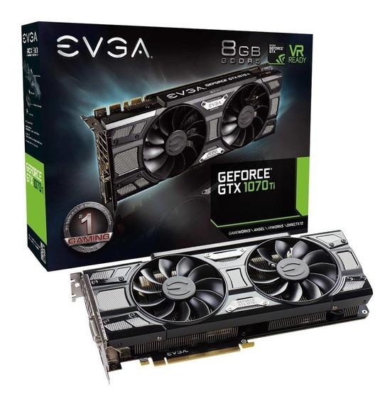 Placa De Vídeo Evga Nvidia Geforce Gtx 1070 Ti Sc Gaming 8gb