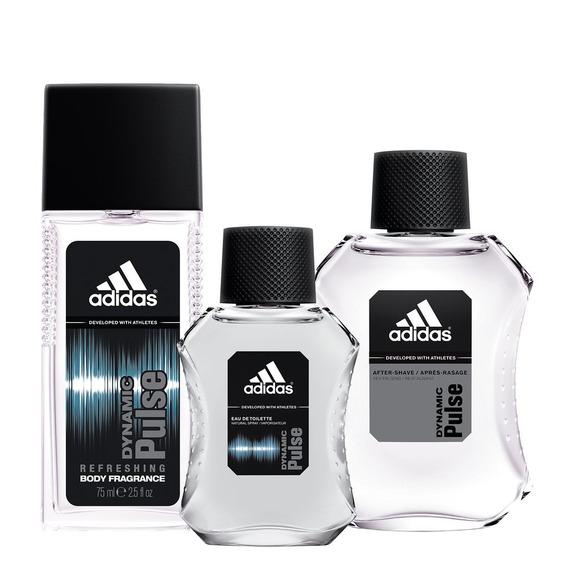 Combo adidas Dynamic Pulse | Perfume + Colônia + Loção Pós B