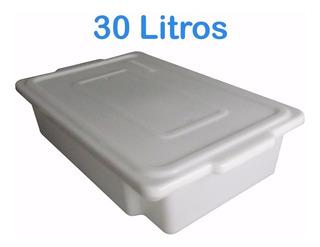 Caixa Plástica Para Alimentos 30 Litros Branca