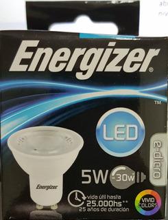 Lampara Led Dicroica Led 5w Gu10 Luz Fria Energizer 2 Años