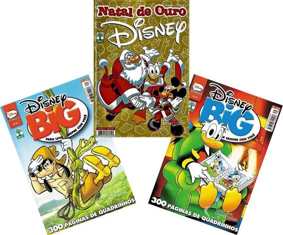 3 Hqs Disney Big E Especial De Natal Gibi Quadrinhos Novos
