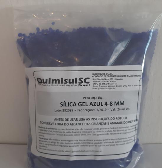 Sílica Gel Azul 4-8 Mm Pacote 1 Kg